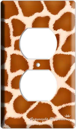 GIRAFFE PRINT KIDS CHILD ROOM DECOR OUTLET COVER PLATE image 3