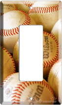 NEW BASEBALL BALLS MLB SINGLE ROCKER LIGHT SWITCH PLATE image 3