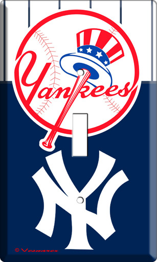 BASEBALL MLB NEW YORK YANKEES SINGLE LIGHT SWITCH PLATE image 3