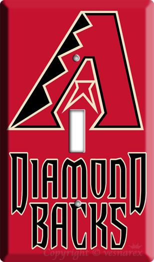 ARIZONA DIAMONDBACKS MLB  BASEBALL LIGHT SWITCH PLATE R image 3