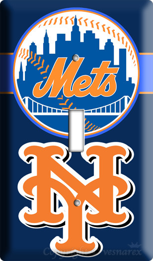 NEW YORK METS NY BASEBALL MLB SINGLE LIGHT SWITCH PLATE image 3
