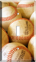 NEW BASEBALL BALLS MLB SINGLE LIGHT SWITCH COVER PLATE image 3