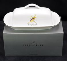 Pottery Barn Reindeer * BUTTER DISH & LID * Christmas, Prancer, EXC! - $326.69
