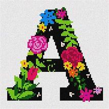 Pepita Letter A Primary Floral Needlepoint Kit - $81.18