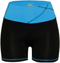 Women's W Sport Two Tone Athletic Work Out Fitness Stretch Gym Shorts AP-4815 image 8