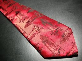 VB Shuttlecraft Neck Tie Glossy Reds with Shuttlecrafts image 2