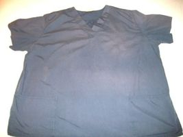 MEN WOMEN FASHION SCRUB NAVY TOP 3XL PLUS image 1