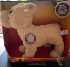 Disney NALA Talking Moves Songs Plush Toy The Lion King Motion Activated New - $29.69