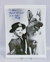 Autographed photo of Rusty and Rin Tin Tin 8X10 No COA - $42.08