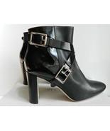 Jimmy Choo Dee Boot High Heel Black Leather Bootie Buckle Straps NIB $11... - $490.05