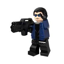 1 Pcs Super Hero Figure Captain Cold With Weapon Fit Lego Block Minifigu... - $6.99
