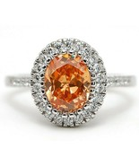 SALE 3CT Padparadscha Sapphire &Topaz 925 Sterling Silver Ring Jewelry Sz 6 M6 - $12.59
