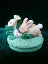 Hallmark Merry Miniatures Easter Egg Hunt Bunny Figurine image 1