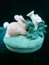 Hallmark Merry Miniatures Easter Egg Hunt Bunny Figurine image 2