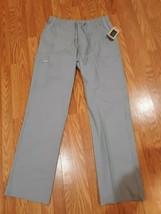 Cherokee Workwear Professionals Men's Med TALL Gray Drawstring Cargo Pant - $21.77