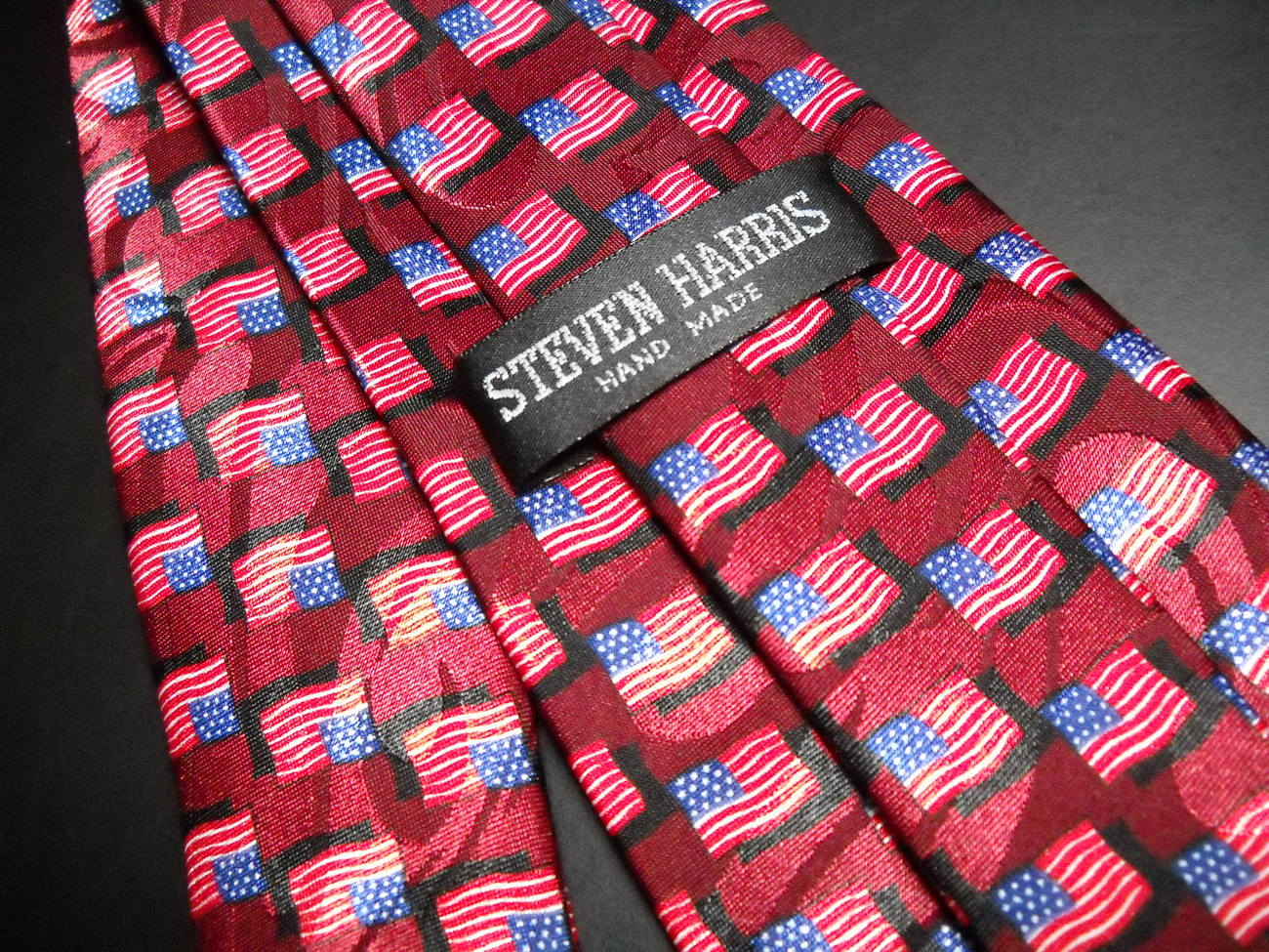 Steven Harris Neck Tie American Flags Hand Made image 4