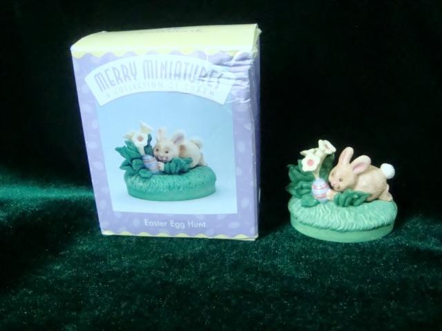 Hallmark Merry Miniatures Easter Egg Hunt Bunny Figurine image 3