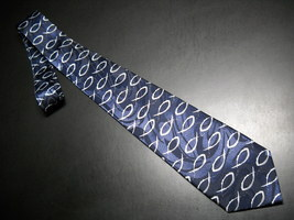 Steven Harris Neck Tie Blue with Fish Hand Made - $11.99