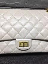 AUTHENTIC Chanel Classic 2.55 Reissue 226 Double Flap Bag Beige GHW image 7