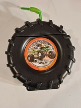 Monster Jam Truck Tire Plastic Sippy Cup with Straw NEW - $9.99