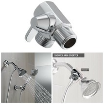 Shower Arm Diverter Valve, Hand Shower, Chrome, Universal 2 Way Brass Sp... - $20.87