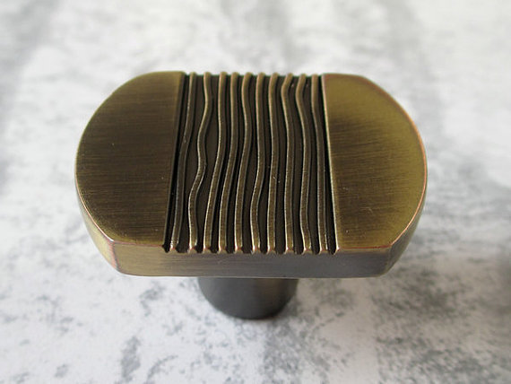 Dresser Knob Drawer Knobs Pulls Handles Cabinet Door Knobs Pull Bronze Stripes image 2