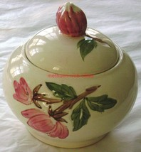 Continental Hills Inc~Hand Painted~Jar w/Cover~Sugar Bowl?~Desert Rose - $15.00
