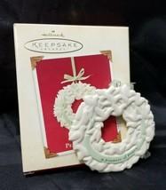 Hallmark Keepsake Ornament A Promise of Peace Wreath Christmas Tree 2003 - £5.53 GBP
