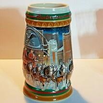 Budweiser 1997 Bud Holiday Stein Christmas Beer Mug Series Tradition CS3... - $14.86