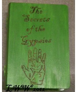 Green Faux Book Wooden Tarot Box The Secrets of the Gypsies Wicca Pagan ... - $10.99