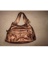 Michael Kors Bronze Leather Triple Compartment Bag Layton