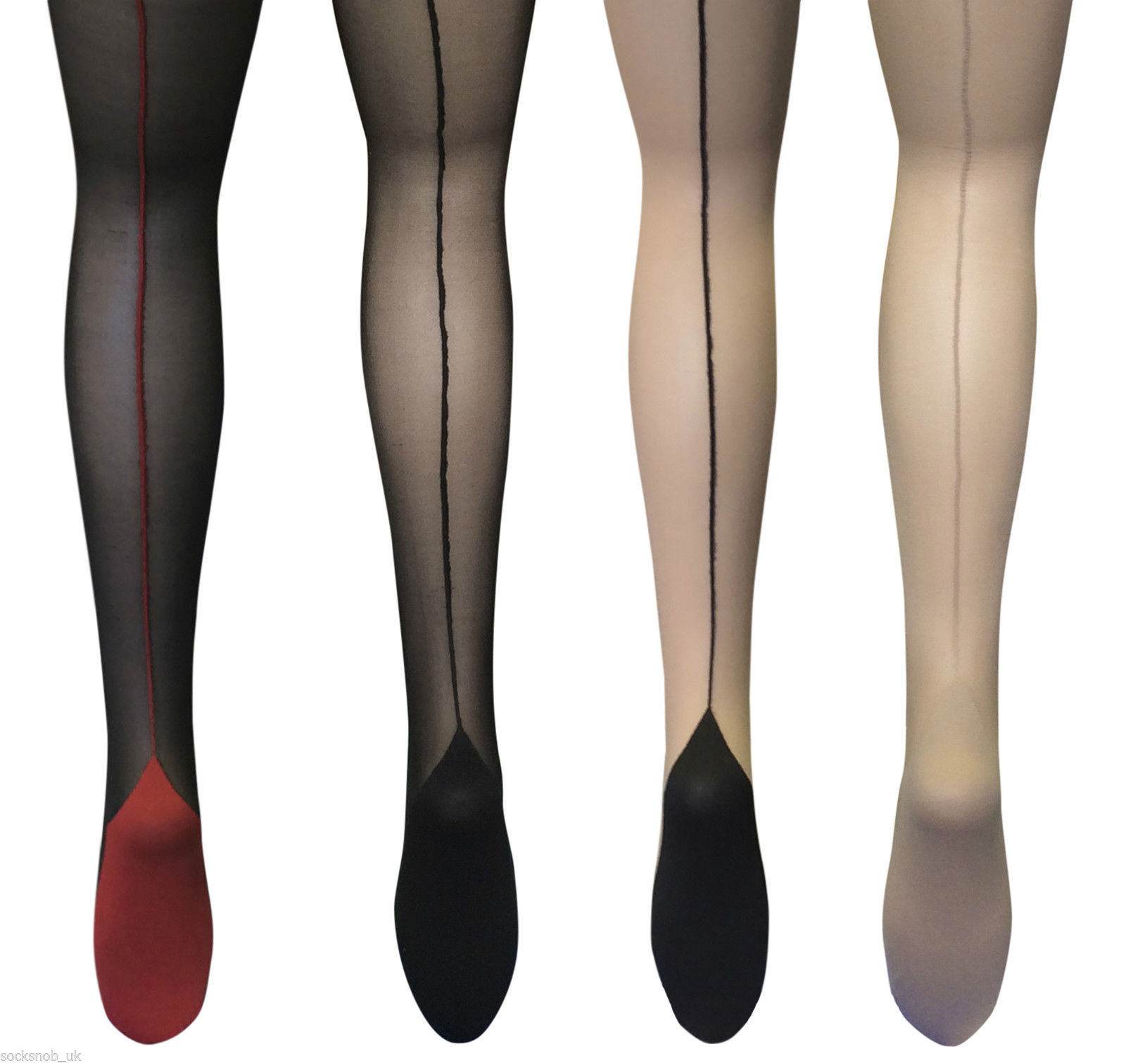e82130af8e0c3 S l1600. S l1600. Previous. Sock Snob - Ladies Retro Back Seam Designer  sexy 40's Tights Sizes ...