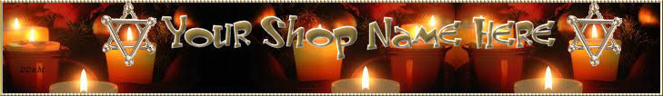 Web Banner Star of David Candles Custom Designed  73a