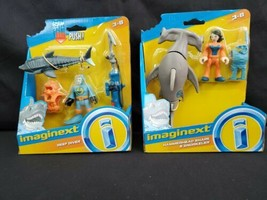 Lot of 2 Fisher-Price Imaginext: Hammerhead Shark & Snorkeler and Reef D... - $29.99