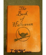 Orange Faux Book Wooden Tarot Box The Book of Halloween Wicca Pagan Hand... - $10.99