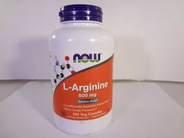 Now l-Arginine 500mg Amino Acid 250 Vegan Capsules {VS-N} - $14.03