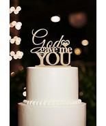Buythrow® Wedding Cake Topper God Gave Me You Rustic Custom Cake Decoration - $26.68
