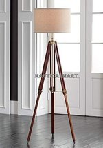 Designer's Cherry Finish Wood Tripod Floor Lamp Stand - $199.00