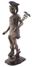 """Top Collection 13"""" Hermes Statue in Cold Cast Bronze- Greek God of Trave... - $99.15"""