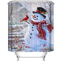 "Custom Merry Christmas Fabric Waterproof Bathroom Shower Curtain 66"" x 72""With - $27.39"