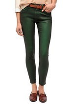 NWT BDG Coated Twig Mid-Rise Jean color Emerald green size 24 - $74.25