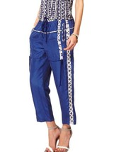 NWT $485 Edun Blue Indigo Dye Silk Drawstring Pant - $95.00