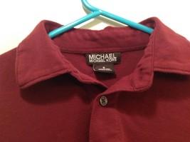 Michael Kors Men's Saucy Red Collared Button Up Shirt