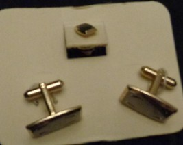 GENTLY USED Hickok Cuff Link & Tie Tack Set - VGC - BEAUTIFUL GOLD PLATE... - $29.69