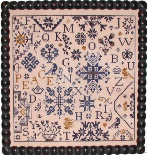 Simple Gifts - Peace cross stitch chart Praiseworthy Stitches