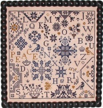 Simple Gifts - Peace cross stitch chart Praiseworthy Stitches image 1