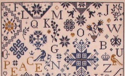 Simple Gifts - Peace cross stitch chart Praiseworthy Stitches image 2