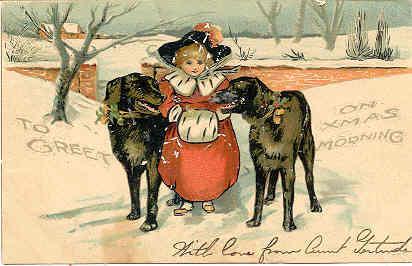 Xmas Greetings 1905 Vintage Post Card