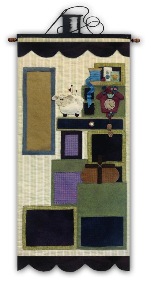Primary image for Tuffets Cupboard Part 1 P1045 Applique/Feltwork pattern with button pack JABC