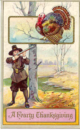 A Hearty Thanksgiving Vintage Post Card